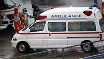 Záchranka odváží Julese Bianchiho ihned do nemocnice.
