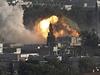Americké bombardování islamistů ve městě Kobani.