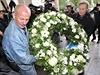 Poh�eb Pavla Landovsk�ho v kostele sv. Ign�ce v Praze v p�tek 17.10. 2014. Se slavn�m hercem se p�i�ly rozlou�it des�tky lid�.