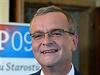 Miroslav Kalousek (TOP 09) vo volebním štábu