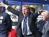 Harry Redknapp, trenér domácích fotbalistů, gestikuluje směrem ke svým svěřencům.