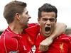 Radost Liverpoolu. Steven Gerrard (vlevo) a Philippe Coutinho. | na serveru Lidovky.cz | aktu�ln� zpr�vy
