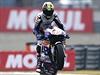 Český jezdec MotoGP Karel Abrahám na Hondě.