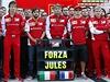 Stáj Ferrari vyjádřila v Soči podporu pilotovi formule 1 Julesi Bianchovi.