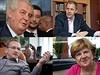 Prezident Milo� Zeman, ministr Marcel Chl�dek, sen�tor Jaroslav Kubera, nov�...
