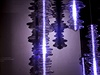 Instalace Sound kloubí sklářské umění se světlem a zvukem.