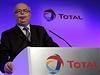 Šéf společnosti Total Christophe de Margerie na shromáždění firmy v Paříži, rok 2012