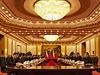 Prezident Miloš Zeman a jeho doprovod jednal 27. října s čínským prezidentem Si...