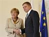 Německá kancléřka Angela Merkelová přijela 20. října do Bratislavy. Na Úřadu...