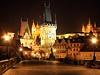 Praha v noci. (ilustra�n� foto)