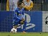 Luiz Adriano ze Šachtaru Doněck slaví jeden ze svých pěti gólů v brance Bate Borisov.