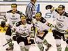Hokejisté Mladé Boleslavi slaví gól.