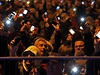 Lid� v Budape�ti protestuj� proti pl�novan�mu zdan�n� internetu.