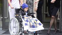 Pětiletý britský chlapec Ashya King podstoupil  v pražském protonovém centru poslední ozařování