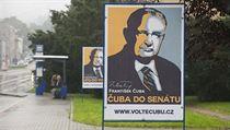 Billboardov� kampa� Franti�ka �uby p�ed volbami do Sen�tu v roce 2014