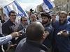 Střet židovských radikálů a izraelské policie v ulicích Jeruzaléma.