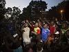 Masové protivládní demonstrace v Ouagadogou, hlavním městě Burkiny Faso.