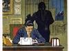 Poutací plakát na Fantomase, němý film, zač. 20 století