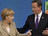 Angela Merkelov� a David Cameron.