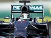 Lewis Hamilton během kvalifikace na Velkou cenu Ameriky.