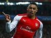 Oxlade-Chamberlain z Arsenalu se raduje po g�lu do s�t� Anderlechtu.