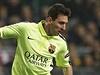 Lionel Messi v zápase proti Ajaxu.