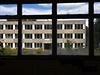 Výhled z administrativní budovy.