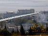 Raketa Islámského státu letí na Kobani.