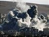 Kobani po dopadu bomb.