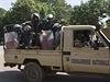 Četníci v ulicích Ouagadougou, hlavním městě Burkiny Faso.