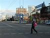 Pust� m�sto. Pr�zdn� ulice v Luhansku.