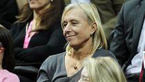Tenisová legenda Martina Navrátilová na finále Fed Cupu.