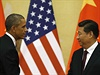 Prezident Barack Obama a jeho čínský protějšek Si Ťin-pching na tiskové...