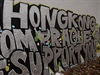 Nápis na Lennonově zdi na Kampě v Praze: To Hongkong from Prague - We Support...
