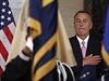 John Boehner během státní hymny