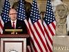 Bohuslav Sobotka b�hem sv�ho projevu v americk�m kongresu