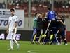 Zklamaný Petros Mantalos po utkání s Faerskými ostrovy.