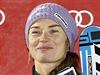 Tina Mazeová - vítězka závodu ve finském Levi.
