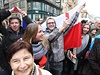 Protest proti prezidentovi Zemanovi.