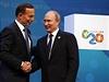 Australsk� premi�r Abbott si t�ese rukou s rusk�m prezidentem Putinem  na...
