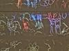 Detail z proměnlivého stropu, který vytvořil Masker. Český výtvarník má na svém...