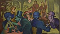 Bohumil Kubi�ta: Kavárna (1910). Olej, plátno (Galerie moderního um�ní v Hradci... | na serveru Lidovky.cz | aktu�ln� zpr�vy