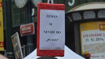 Protestní akce Chci si s vámi promluvit, pane prezidente. | na serveru Lidovky.cz | aktu�ln� zpr�vy