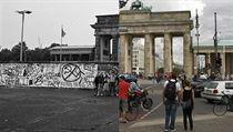 Braniborská brána a berlínská ze� v roce 1989 a nyní. | na serveru Lidovky.cz | aktu�ln� zpr�vy