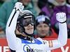 Roman Koudelka oslavuje své první vítězství ve Světovém poháru