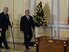 Prezident Miloš Zeman (vlevo) a kazašský prezident Nursultan Nazarbajev...