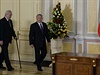 Prezident Milo� Zeman (vlevo) a kaza�sk� prezident Nursultan Nazarbajev...