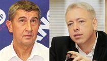 Ministr financ� Andrej Babi� a ministr vnitra Milan Chovanec byli adres�ti...
