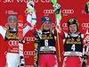 Stupně vítězů. Zleva: Frida Hansdotterová, Nicole Hospová a Kathrin Zettelová.
