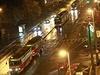 Dopravní kolaps tramvají v Praze na Vinohradské ulici.